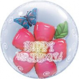 Double bubble Birthday Flower